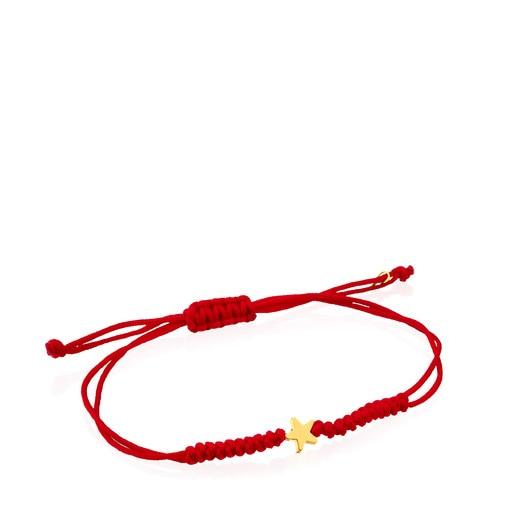 Bracelet Sweet Dolls XXS étoile en Cordon de couleur rouge et Or
