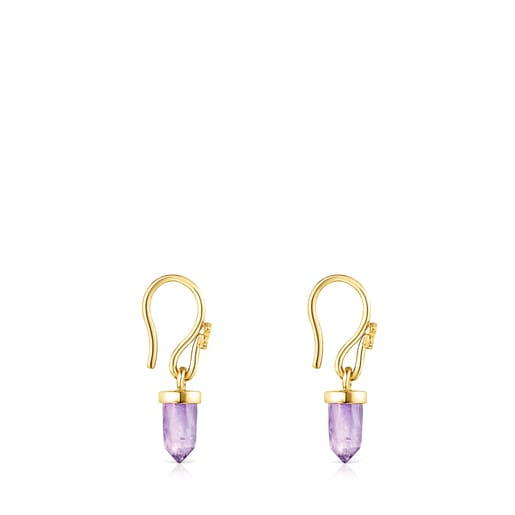 Silver Vermeil TOUS Good Vibes Earrings with Amethyst