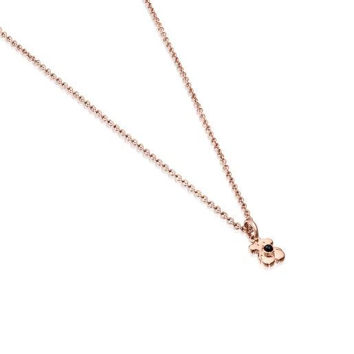 Κολιέ Real Sisy από Ροζ Χρυσό Vermeil με Όνυχα