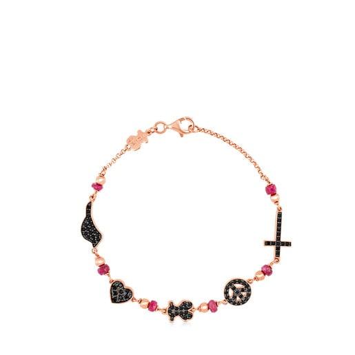 Bracelet Motif en Vermeil rose