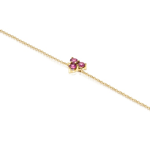 Gold Luz Bracelet with Rhodolite