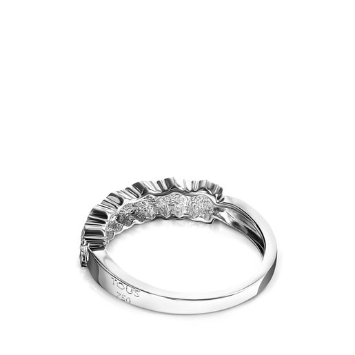 Bague Puppies en Or blanc avec Diamants
