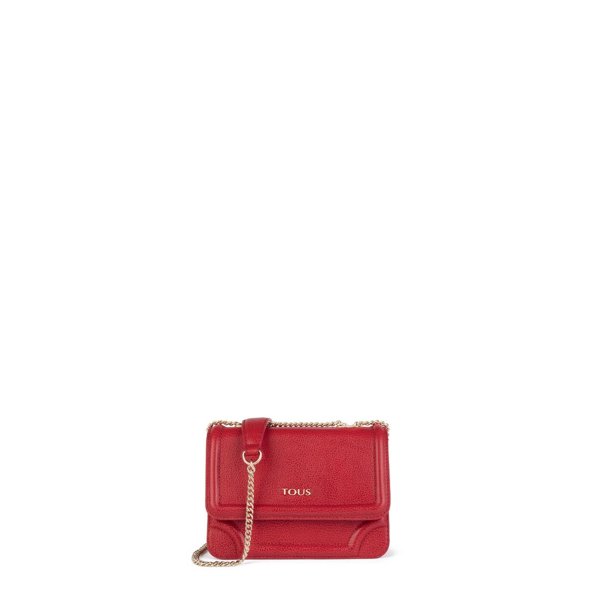 98d228bdbf1d Small red Leather Obraian Crossbody bag - Tous Site US