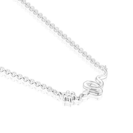 Collar Fragile Nature serpiente de plata