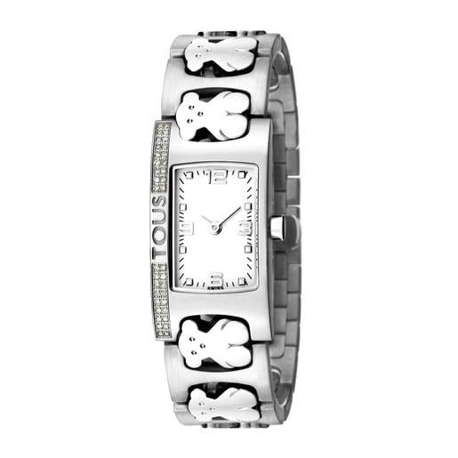 Steel Praga Watch with Diamonds