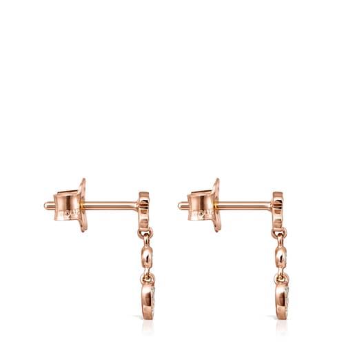 Kurze Ohrringe Les Classiques aus Roségold mit Diamanten