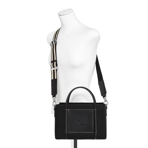 Μεσαίου μεγέθους μαύρη τσάντα City Empire Soft