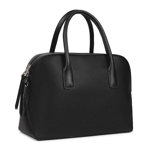 Black Leather TOUS Icon Bowling bag