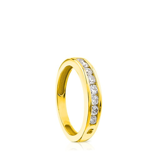 Gold TOUS Diamond Ring with Diamonds