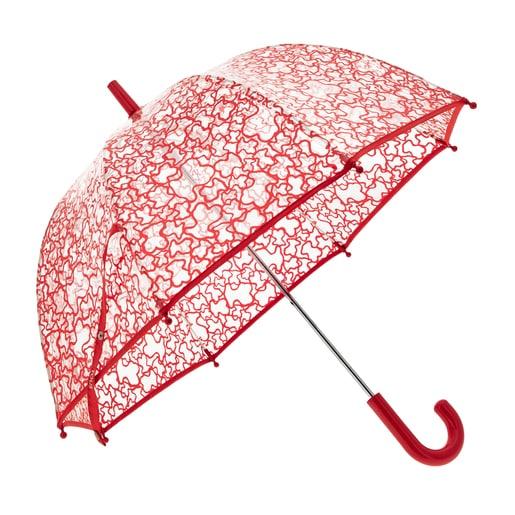 Paraigües transparent Kaos Vermell