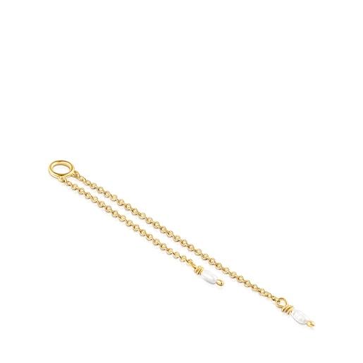 Colgante Nenufar de plata vermeil y perla