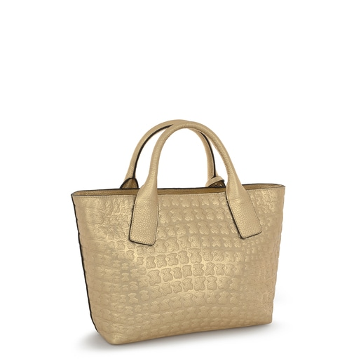 Golden leather Sherton tote bag