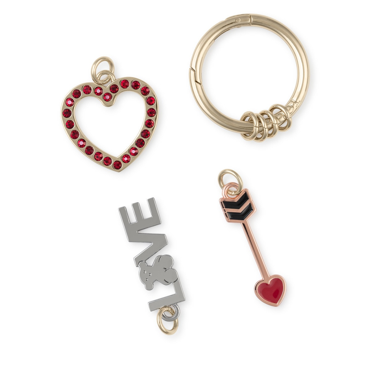 Red Hold Love Key ring