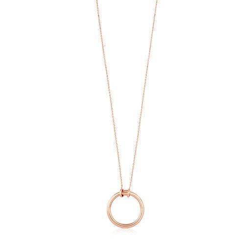 Rose Vermeil Silver TOUS Hold Necklace 2,8cm.