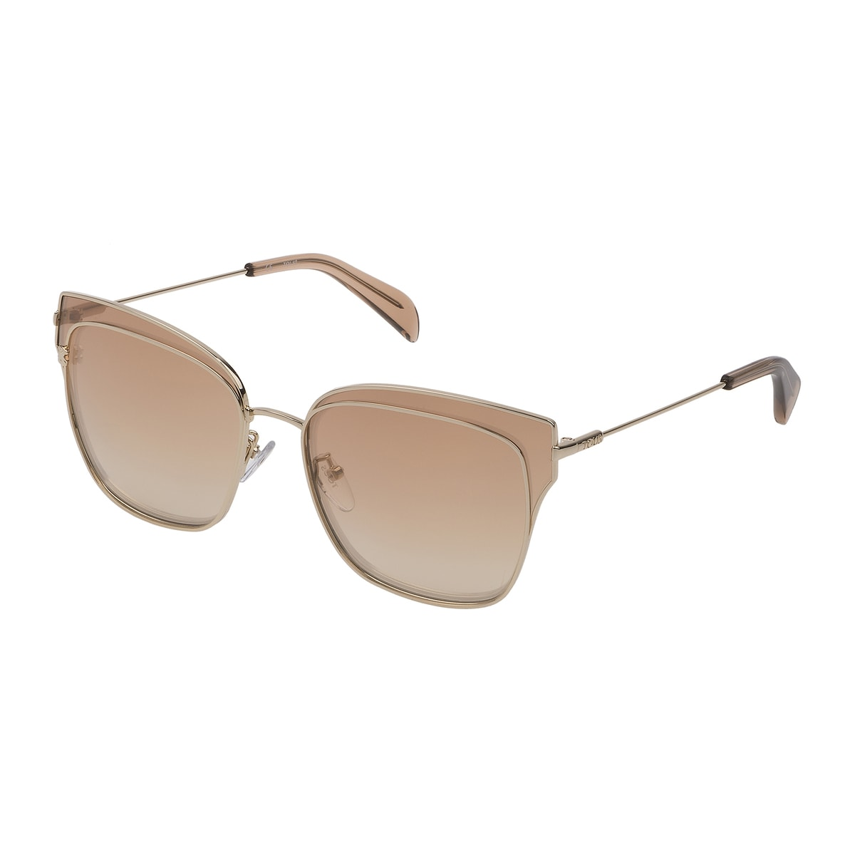Light gold colored Metal Metal Bear Sunglasses