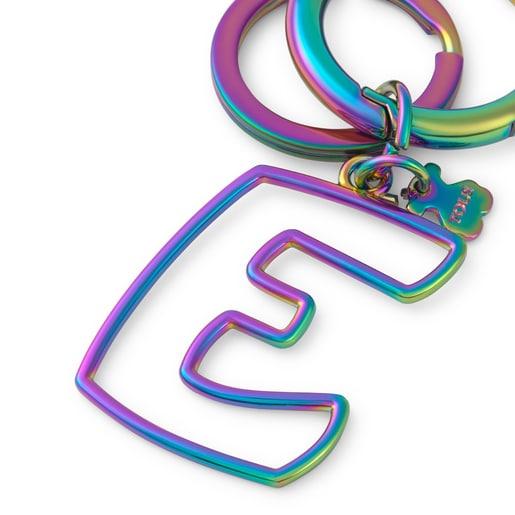 Iridescent Touscedario Letter E Key ring