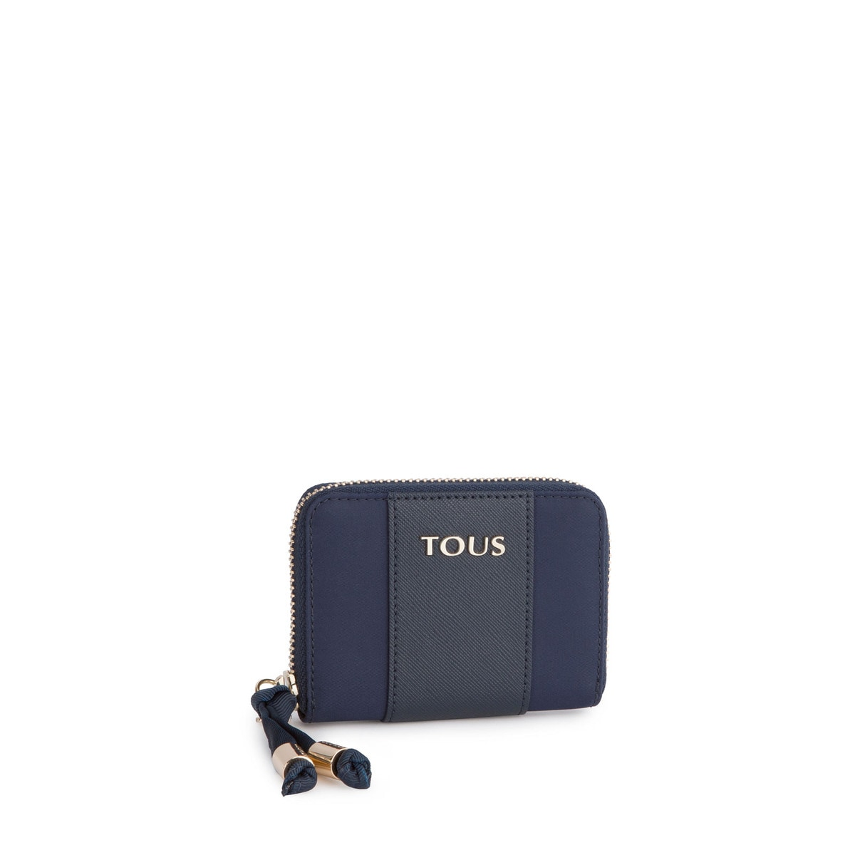 Navy colored Canvas Brunock Chain Wallet