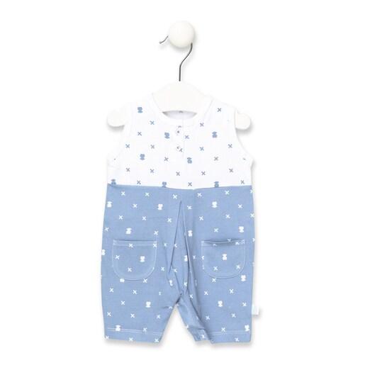 Babygrow S/M curto X Bear Azul Celeste