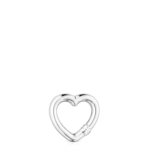 Small Silver Hold heart Ring