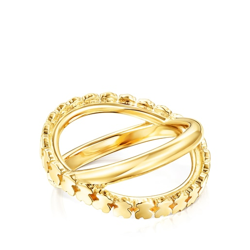 Silver Vermeil Straight cross Ring