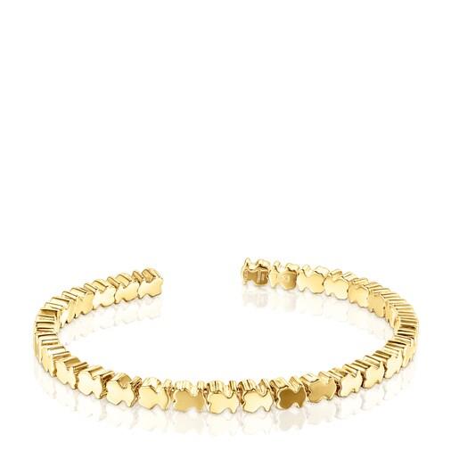 Bracelet Straight oursons en Argent vermeil