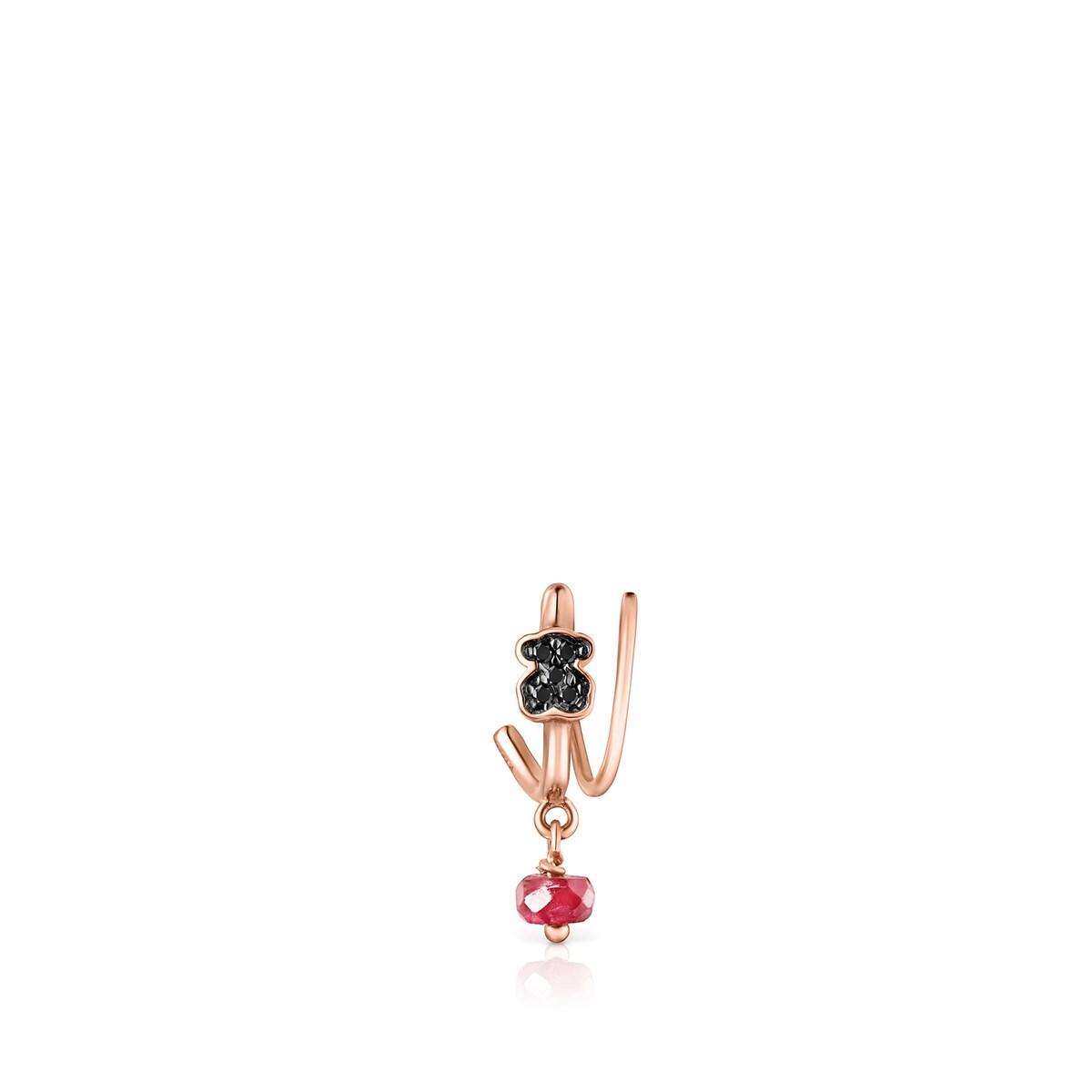 b33ccccade8d Earcuff Motif de Plata Vermeil rosa con Espinelas - Sitio web Tous ...