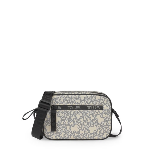 Small beige-gray Kaos Mini Sport Crossbody bag
