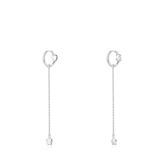 Long Silver Mini Icons Earrings