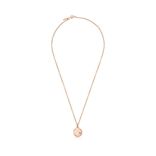 Rose Vermeil TOUS Mama Necklace with Rubies