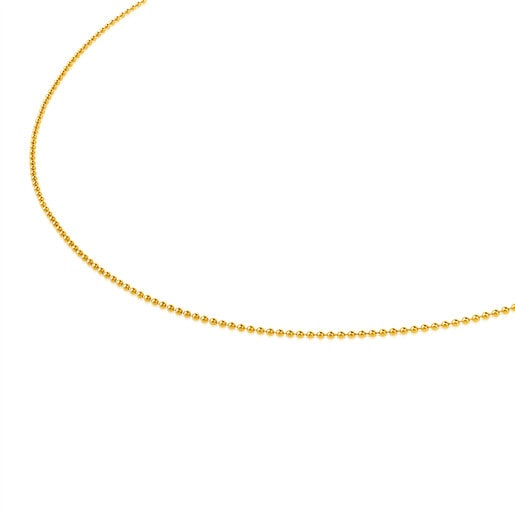 Cadena TOUS Chain de oro de bolas de 1,2mm, 40cm.