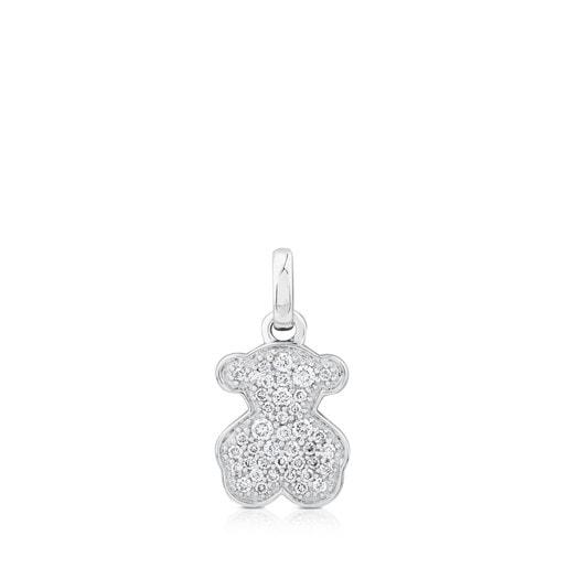 Penjoll TOUS Icon Gems Ós d'Or blanc amb Diamants