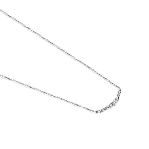 Riviere Necklace in White gold with Diamonds