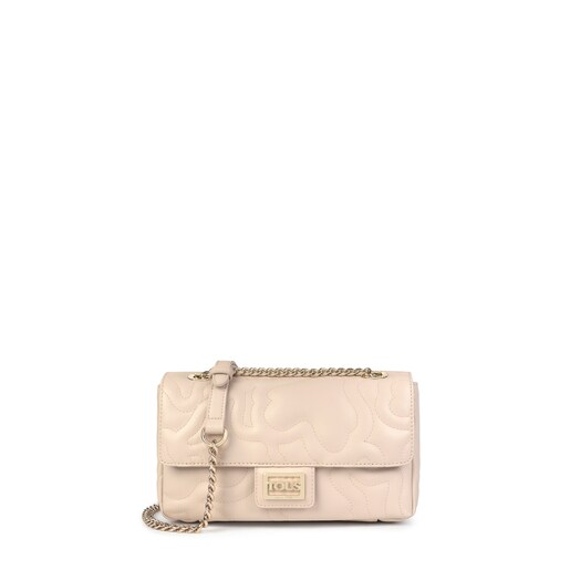Small beige Kaos Dream Crossbody bag with flap