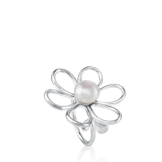 Silver Maggie Ring with Pearl