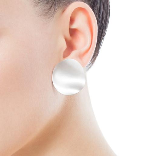 Small Silver Nenufar Earrings