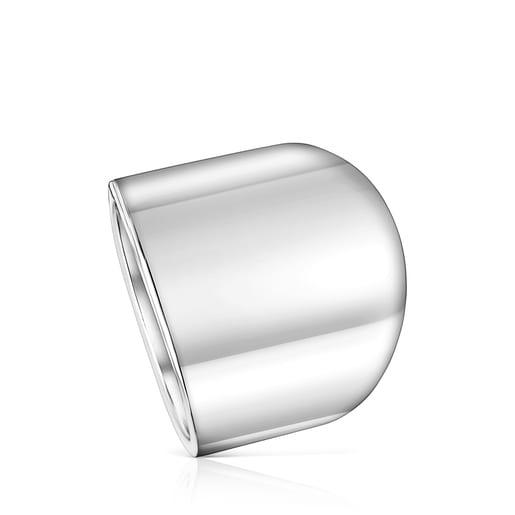 Anillo TOUS Basics liso de plata