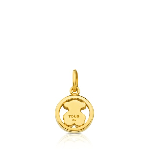 Camille Pendant in Gold with little Bear motif