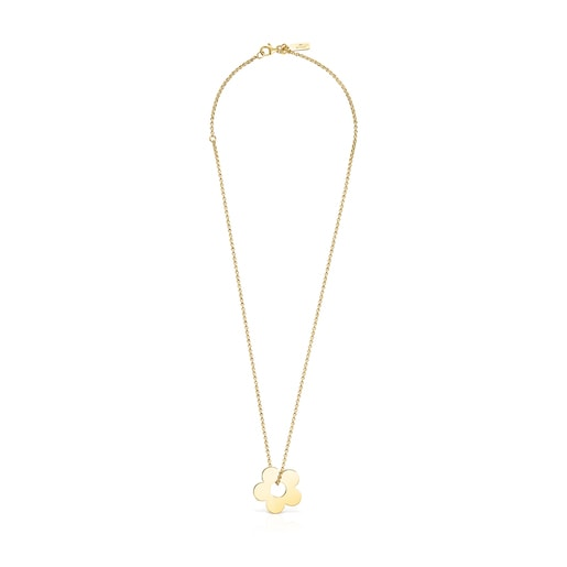 Hold Metal Silver Vermeil Flower Necklace
