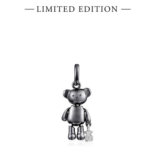 Colgante pequeño Teddy Bear de Titanio y Diamantes - Edición limitada