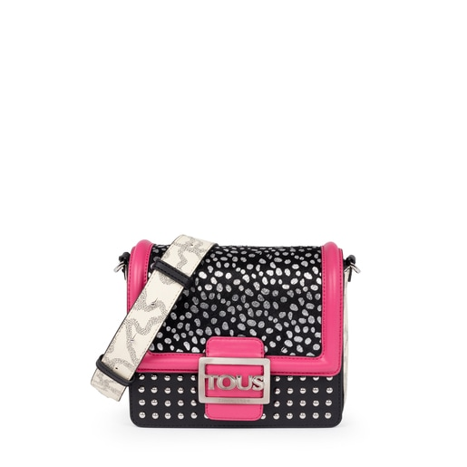 Small fuchsia colored Kaos Icon Wild Multi Shoulder Bag