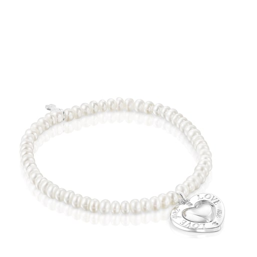 Pearl San Valentín Bracelet with rotating heart
