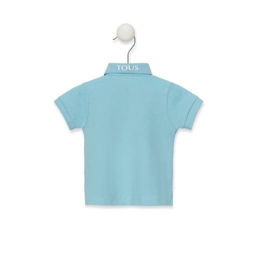 Polo Casual Azul Celeste
