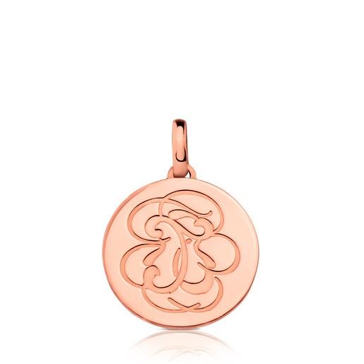 Rose Vermeil Silver Rubric Pendant