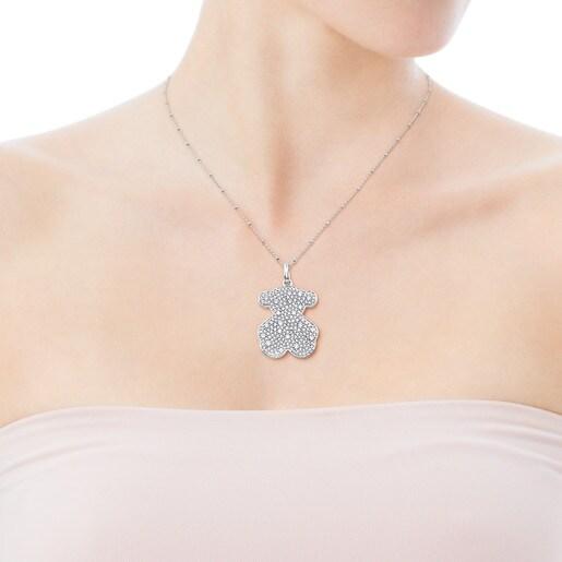 Pendentif Icon Gems en or blanc et diamants