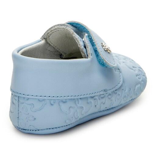 Bota Mini Walk Mossaic Azul Celeste