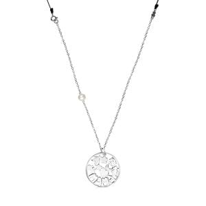 TOUS Mama Necklace in Silver and black cord