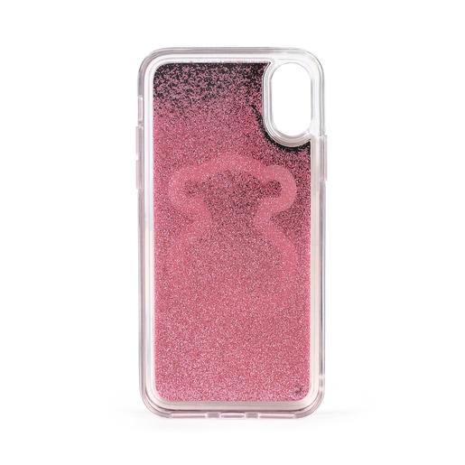 Delrey X-XS Glitter Mirror Bear phone case pink