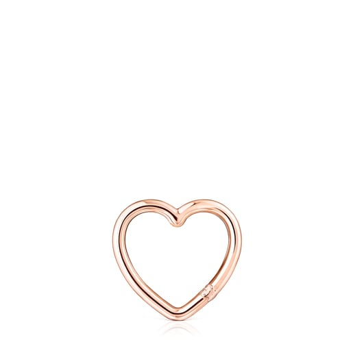 Medium Hold heart Ring in Rose Vermeil