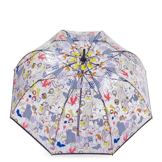 Paraguas grande Tous Tribe multicolor