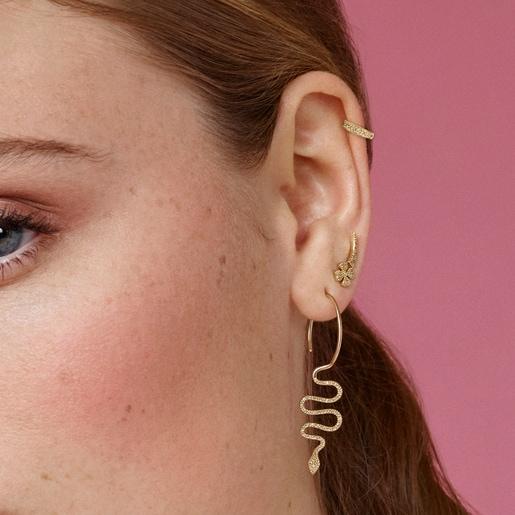 Boucles d'oreilles TOUS Good Vibes trèfle en Or et Diamants